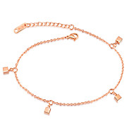 Dice temperament contracted rose gold chains were female thin strands han edition fashion accessory birthday gift