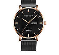 Men's Fashion Watch Wrist watch Digital Calendar Alloy Band Black