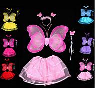 Двойные золотые бабочки крылья покрыты 4 раза юбка крыло шина фея палочка цвет случайный