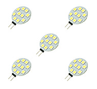 2W Luci LED Bi-pin 10 SMD 5050 160 lm Bianco DC 12 V 5 pezzi