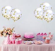 1Pcs 12 Inches Through Bright Piece Of Confetti Balloons Aluminum Foil Balloons Holiday Party Balloon Marriage Room Decoration