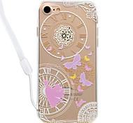 Чехол для iphone 7plus 7 бабочка шаблон акриловая объединительная плата и tpu краевой материал шея талреп 6s плюс 6plus 6s 6 se 5s 5