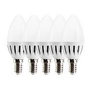 3W LED лампы в форме свечи C37 15 SMD 2835 270 lm Тёплый белый Управление освещением AC 85-265 V 5 шт.
