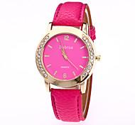 Жен. Модные часы Китайский Кварцевый Кожа Группа С подвесками ПовседневнаяЧерный Белый Синий Оранжевый Коричневый Зеленый Розовый