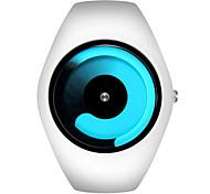 Homens Relógio de Moda Quartzo Silicone Banda Branco Azul