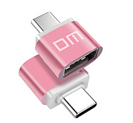 DM Type C-A USB 2.0 Type-C OTG Portable Adapter For Samsung Huawei Xiaomi PVC