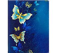 Чехол для ipad 2 3 4 воздушный воздух 2 про 9,7 '' чехол для крышки золотой узор бабочки pu материал три раза плоский корпус корпуса