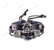 Муж. Кожаные браслеты Бижутерия Винтаж бижутерия Кожа В форме черепа Бижутерия Назначение На каждый день