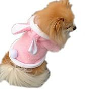 Кошка Собака Костюмы Одежда для собак Косплей Сплошной цвет Лиловый Красный Розовый