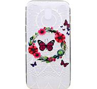 Чехол для samsung galaxy j7 2017 j5 2017 телефон случай бабочка шаблон мягкий материал для телефона tpu для телефона j3 2017