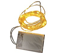 4.5V 2M 20Led 3 AA Battery Powered Decorative LED Silver Wire Fairy String Lights for Christmas Holiday Wedding and Parties