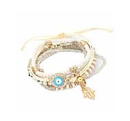 Lureme® Women's Chain Bracelet Jewelry Natural Friendship Rainbow Handmade Fashion Bohemian Punk Engineering Plastics Bead Circle Geometric