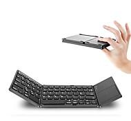 Портативная клавиатура bluetooth с двойной складкой bt беспроводная складная клавиатура тачпада для планшета ios / android / windows