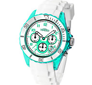 Men's Fashion Watch Quartz Rubber Band White