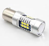 2x белый p21w 1156 ba15s 3030 21 smd led canbus без ошибок задний задний фонарь автомобиля