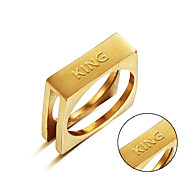 New fashion stainless steel ring foreign trade goods can be carved custom content