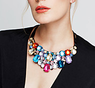 Жен. Заявление ожерелья Длинные ожерелья Кристалл Бижутерия Стразы Искусственный бриллиант 18K золото Австрийские кристаллы Мода