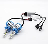 Philips 70w 7200lm h7 светодиодный фонарик комплект автомобильных фартуков 6000k белый canbus
