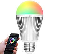 9W Умная LED лампа A60(A19) 20 SMD 5730 900 lm RGB Белый Двойной цвет источника светаИнфракрасный датчик На пульте управления WiFi