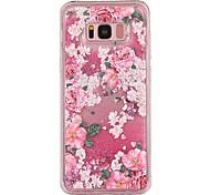 Кейс для samsung galaxy s8 s8 plus кейс крышка цветок рисунок tpu материал полный мягкий love flash порошок мобильный телефон для