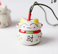 Сумка / телефон / брелок шарм кошка мультфильм игрушка керамический китайский стиль