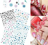 4 Стикер искусства ногтя С рисунком Рождество Компоненты для самостоятельного изготовления Стикер макияж Косметические Ногтевой дизайн