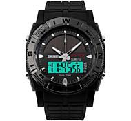 Мужской Спортивные часы LED Защита от влаги Цифровой PU Группа Черный