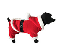Собака Плащи Одежда для собак Новый год Сплошной цвет Красный