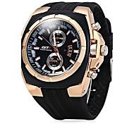 Муж. Спортивные часы Нарядные часы Модные часы Китайский Кварцевый Pезина Группа Cool Повседневная Черный