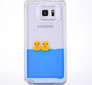 Случай для примечания галактики samsung примечание 2 примечание 3 крышка колокола случая утка картины материал ПК quicksand телефон для