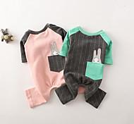 Собака Комбинезоны Одежда для собак На каждый день Кролик Серый Розовый