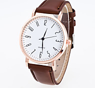 Муж. Жен. Спортивные часы Нарядные часы Модные часы Наручные часы Китайский Кварцевый PU Группа Повседневная Черный Коричневый