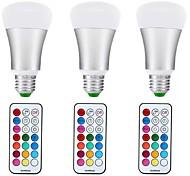 10W Круглые LED лампы A70 1 COB 1000 lm RGB + теплый Диммируемая Декоративная V 3 шт. E27