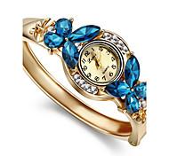 Женские Модные часы Часы-браслет Имитация Алмазный Кварцевый сплав Группа Кольцеобразный Элегантные часы Золотистый