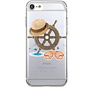 для случая крышки крышки задней части крышки случая мультфильма мягкого tpu для яблока iphone 8 плюс iphone 8 iphone 7 плюс iphone 7