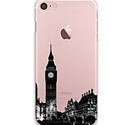 Назначение iPhone 7 iPhone 7 Plus Чехлы панели Ультратонкий Прозрачный С узором Задняя крышка Кейс для Вид на город Мягкий Термопластик