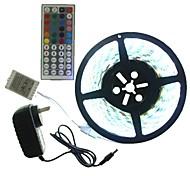 5m 300x5050led комплект света лазера водоустойчивый rgb 44 ключевой контроллер ac100-240v au / eu / us / uk шнур питания dc12v 2a