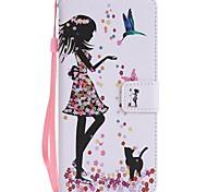 для футляра для карточек держатель кошелек с подставкой флип магнитный узор сумка для тела сексуальная леди твердая кожа pu для галактики