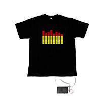 sonido y la música activa el visualizador vu bailarín espectro camiseta (2 * aaa)