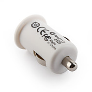 1000mA USB Car Charging Adapter for iPhone 4 White (5V-1A)