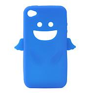 enkeli suojaava silikageeli kotelo iPhone4 - sininen