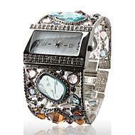 zegarek damski bransoleta niesamowite srebrny z wdzięku wielu dekoracji diamentów kolorów