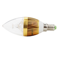 E14 3 W 3 High Power LED 270 LM Natural White C Decorative Candle Bulbs AC 85-265 V