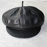 schapenvacht baret hoed (s: 55cm, m: 57cm, l 59cm)