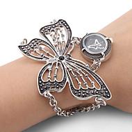 Dames Modieus horloge Armbandhorloge Japans Kwarts Band Vlinder Elegante horloges Zwart Zilver
