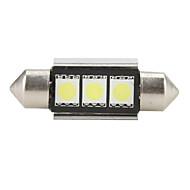 36mm 5050 SMD LED 5500K White Light Bulb for Car