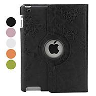 iPad 2/3/4 Stand ile 360 Derece Dönebilen Çiçek PU Deri Kılıf (Çeşitli Renklerde)