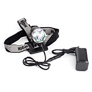 Oplaadbare 5-standen Cree XM-L T6 LED-hoofdlamp (1200LM, battery pack)
