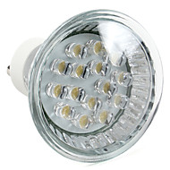 GU10 1W 15-LED 75LM 2800-3500K Warm White LED Spot Bulb (220-240V)