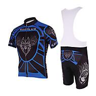 KOOPLUS Bike/Cycling Padded Shorts / Jersey + Bib Shorts / Clothing Sets/Suits Men's Short Sleeve Breathable / Quick Dry PolyesterAnimal